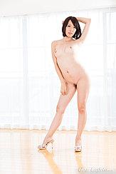 Standing Nude Arm Raised Short Hair Trimmed Pussy Hair High Heels