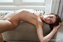 Sprawled Over Sofa Nude Small Tits